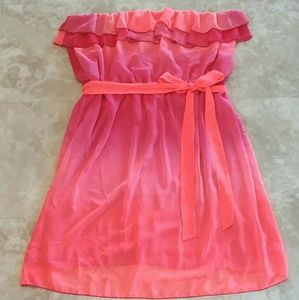 Pink orange dress with ruffles Maurices size 3 26